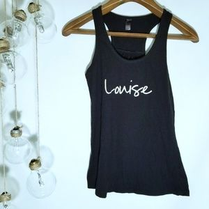 District Made Black Tank Top Louise Small